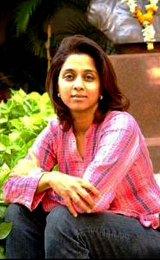 Supriya Sule during her younger days