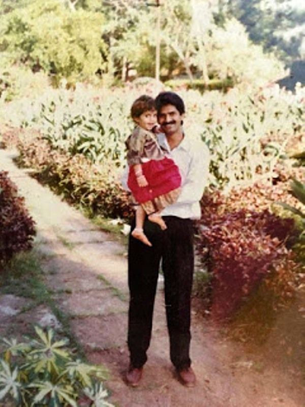 Sreemukhi With Her Father
