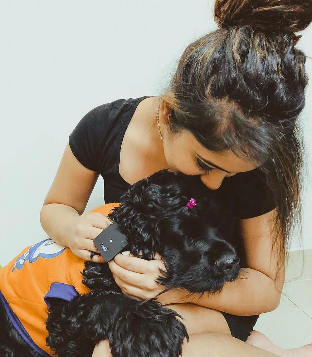 Surabhi Mehra With Her Pet Dog
