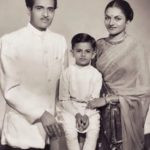 Bhupen Hazarika with his Wife and Son