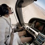 Angelina Jolie in her aircraft