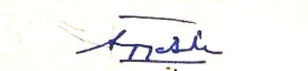 Supriya Sule's signature