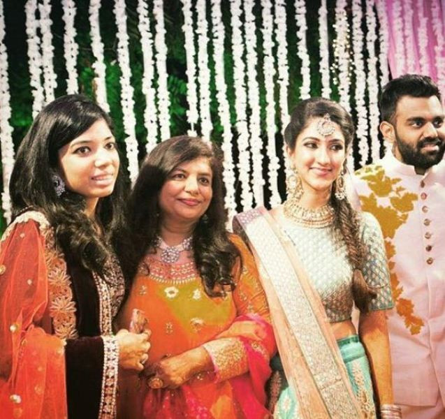 DJ Chetas with his Sister, Mother, and Wife (starting from the left