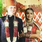 Shriya Saran with her husband Andrei Koscheev