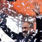 Nikol Pashinyan Celebrating