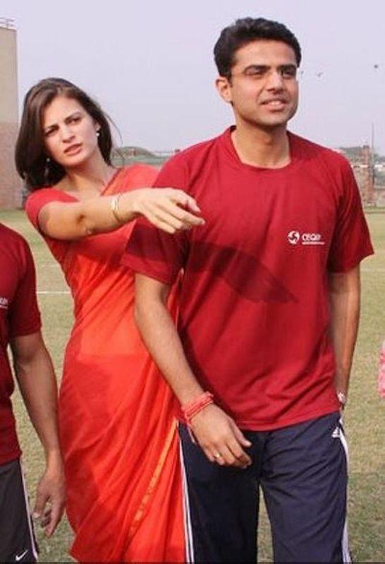 Sachin Pilot With Sarah
