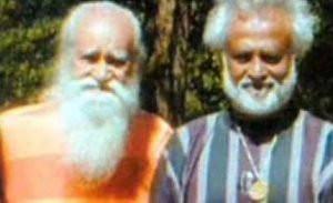 Rajinikanth with Swami Satchidananda