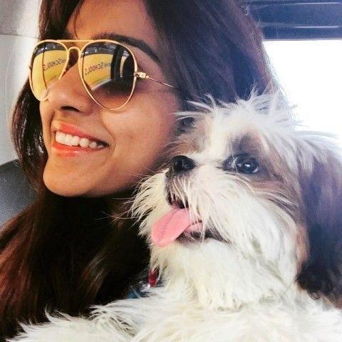 Vithika Sheru loves her pet