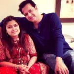 Rahul Mahajan with his sister Poonam Mahajan