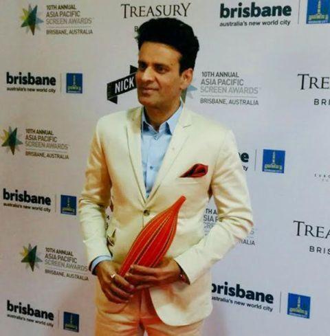 Manoj Bajpayee Receiving Awards