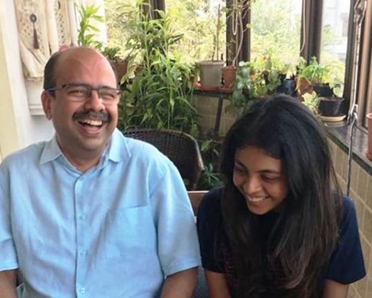 Shyamoli Sanghi with Her Father