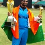 Prakash Jayaramaiah, man of the match in the Blind World Cup T20 2017