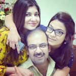 Syesha Kapoor with her parents