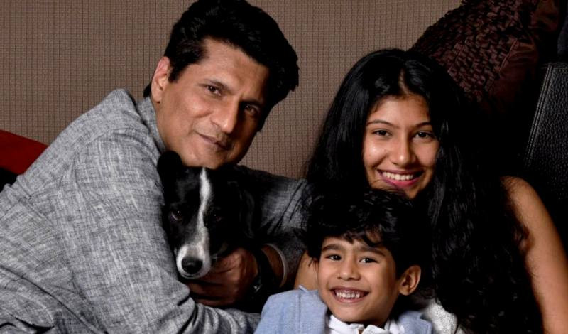 Rajiv Makhni with his daughter Amaya and his son ArmanVeer