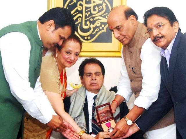 Dilip Kumar Receiving Awards