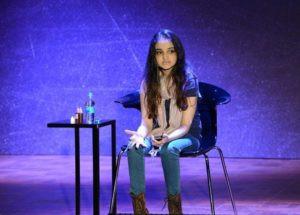 Aisha Chaudhary while Talks