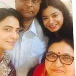 Shweta Bhardwaj with her parents and sister