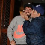 Diego Maradona with his son Diego Sinagra