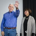 Mike Pence with his wife Karen Pence