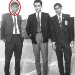 Jogi standing with Mansoor Ali Khan Pataudi (Center)