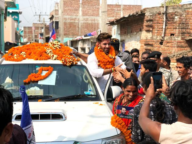 Chirag Paswan with his Fortuner