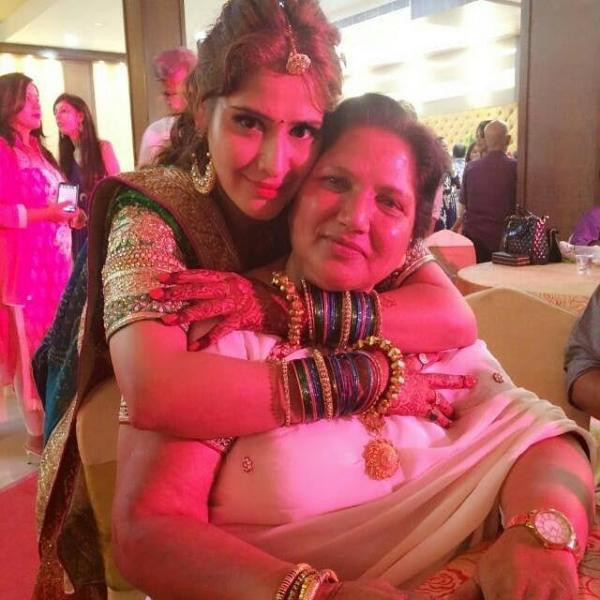 Arti Singh with her foster mother