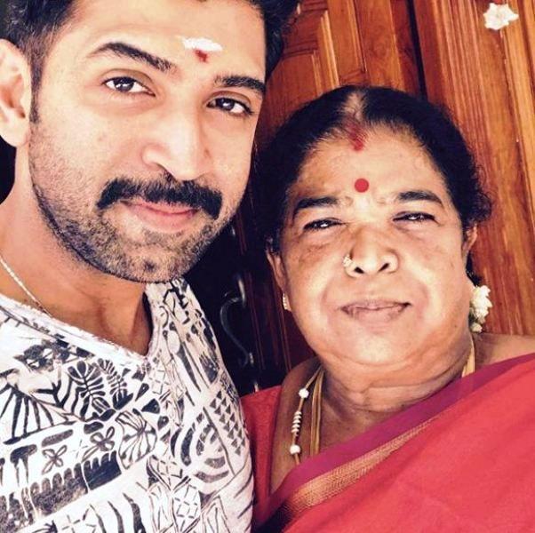 Arun Vijay with His Mother