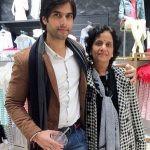 Kartik Bishnoi with his mother