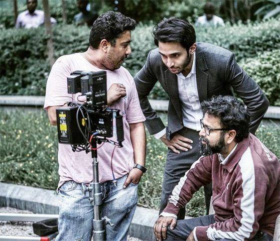 Rohan Vinod Mehra on the sets of the film Baazaar