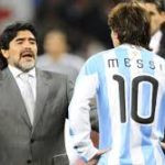 Diego Maradona as the coach of Argentina