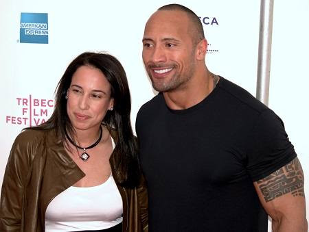 Dwayne Johnson with his ex-wife Garcia