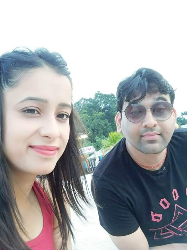 Sweta Tripathi with Her Husband