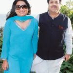 Anurradha Prasad With Her Husband