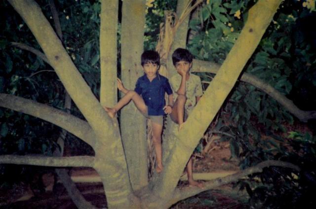 Childhood photo of Sandeep Vanga and his brother