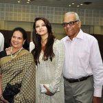 Aishwarya Rai with her parents