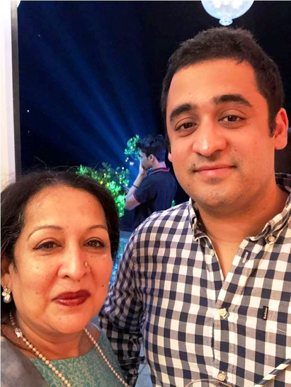 Devika Bhise's Mother and Brother