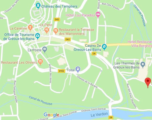 Plan de la Saluade à Gréoux les Bains