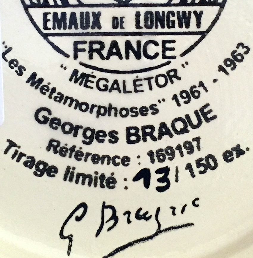 Boule collection emaux longwy Braque