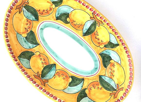 Oval serving plate Amalfi design