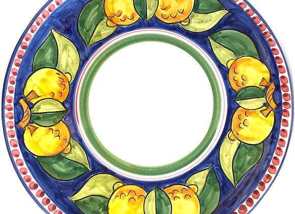 Round serving plate Ravello design