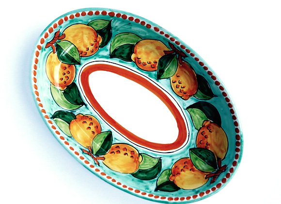 Oval serving plate Positano design