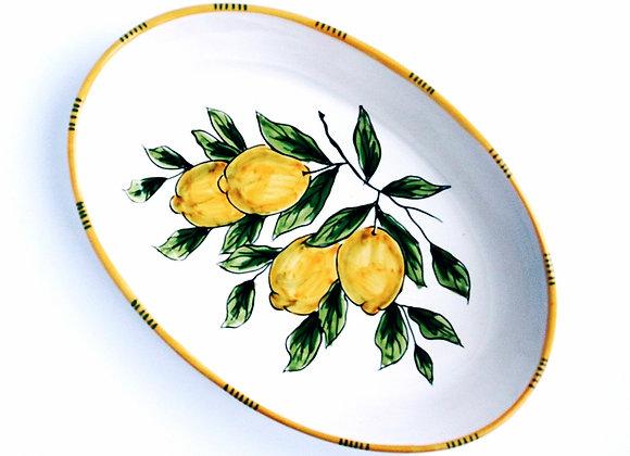 Oval serving plate Sorrento design