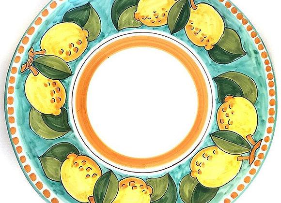 Round serving plate Positano design