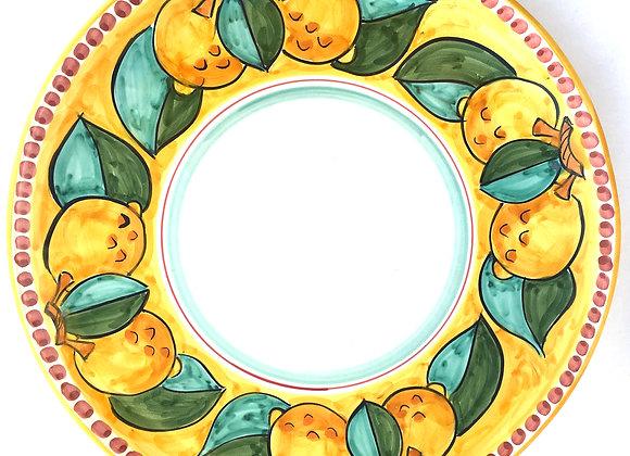 Round serving plate Amalfi design