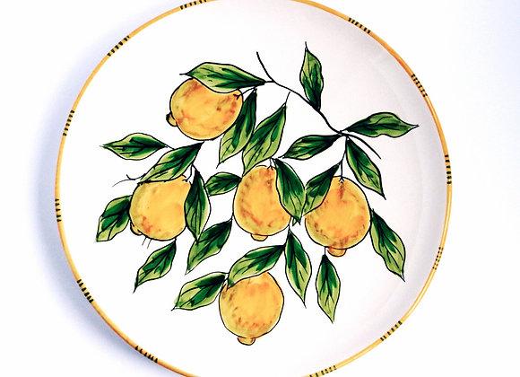 Round serving plate Sorrento design