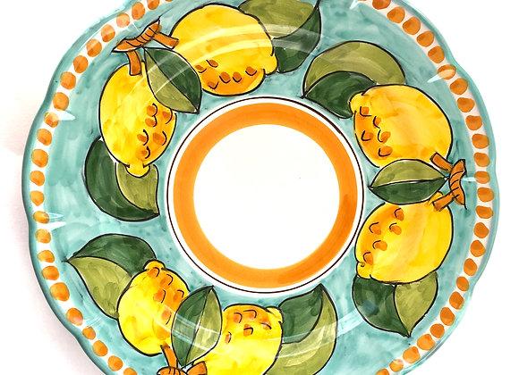 Dinner plate Positano design
