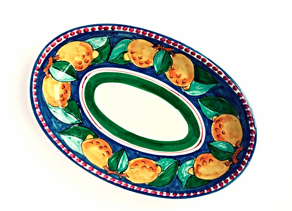 Oval serving plate Ravello design