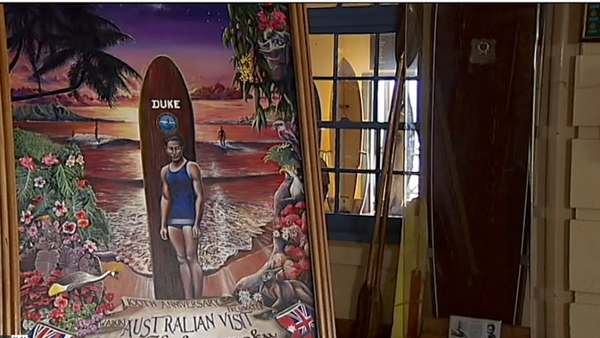 The Duke - surfing in Oz