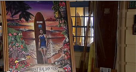 The Duke - surfing in Oz