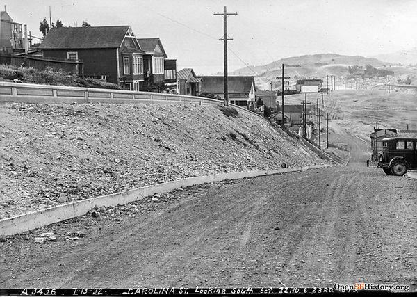 1932 view looking South down Carolina St from just south of 22nd St in San Francisco